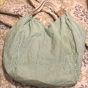 BUNDLE&SAVE! Light green and white striped bag